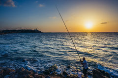 Sea in Tel Aviv Stock Photo