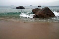 Sea in tempest on rocks Stock Photo