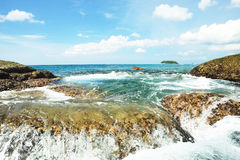 The sea in thailand Royalty Free Stock Image