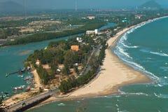 Sea in Thailand,Bird eye view. Stock Photo
