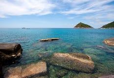 Sea in Thailand. Ko Tao island Stock Images