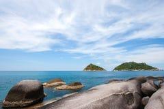 Sea Thailand. Nang Yuan island, Koh Tao, Thailand Stock Photo