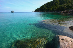 Sea Thailand. Sea at Nang Yuan island, Koh Tao, Thailand Royalty Free Stock Photos