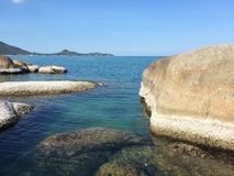 Sea Thailand. Sea stone mountain beach Stock Photo