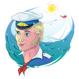 Sea theme with Captain Stock Photo