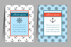 Sea theme cards Stock Photography