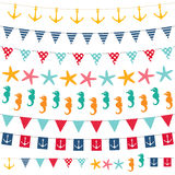 Sea theme decoration set Stock Photo
