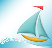 Sea theme illustration Royalty Free Stock Photo