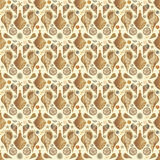 Sea theme seamless pattern wallpaper Royalty Free Stock Photo