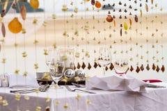 Sea theme table setup for dinner Stock Photography