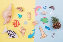 Sea theme. Various naval trivia. Decor on the theme of sea Stock Image