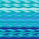 Sea theme, waves and sea breeze, sea background - vector Stock Photos