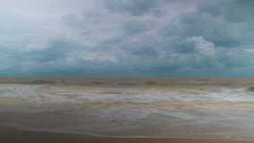 Sea tide and clouds time lapse video. Clip stock video