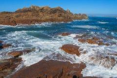 Sea tide waves on rocks Royalty Free Stock Photo