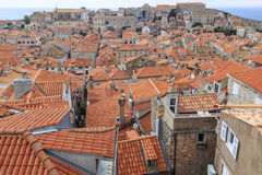 The sea of tiled roofs Royalty Free Stock Image