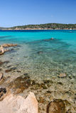 Sea to the La Maddalena Stock Images
