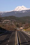 Sea to Sky highway with Garibaldi Mountain Stock Images