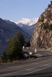 Sea to Sky highway at porteau cove, howe sound Stock Photos