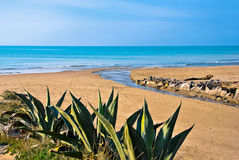 Sea of Torvaianica in Italy Royalty Free Stock Images