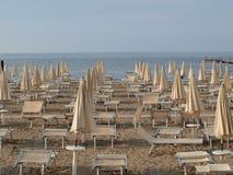 Sea tourist beach, Grado. Italy Royalty Free Stock Photos