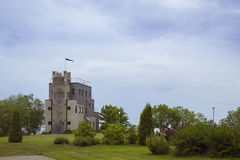 Sea Tower of Saka Manor, Estonia. Farm attraction in the province of Estonia, Saka Manor Royalty Free Stock Image
