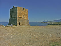 Sea tower. Tower to defense from pirates Stock Images