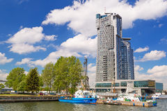 Sea Towers skyscraper in Gdynia, Poland Royalty Free Stock Images