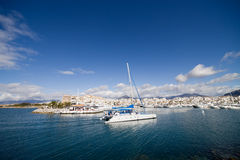 Sea Town at Costa del Sol in Spain Royalty Free Stock Images
