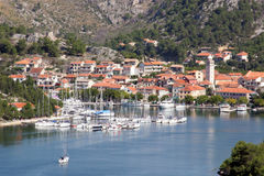 Sea town of Skradin Stock Photo