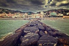 Sea town Stock Photo