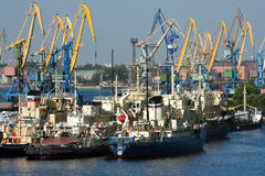 Sea trading port Stock Image