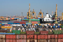 Sea trading port Royalty Free Stock Photography