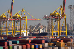 Sea trading port Royalty Free Stock Images