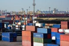 Sea trading port Royalty Free Stock Photos