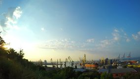Sea trading port activity. Video of sea trading port activity stock footage