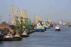 Sea trading port Royalty Free Stock Image