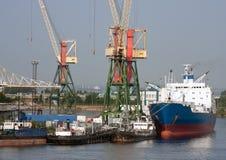 Sea trading port Stock Photo