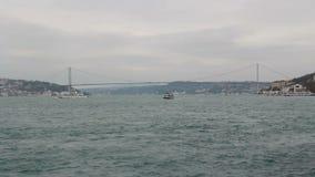 Sea traeling, Istanbul city, December 2016, Turkey stock video footage