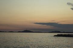 Sea Tramonto Immagine Stock Libera da Diritti