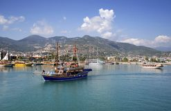 Sea transport. Royalty Free Stock Photos