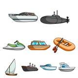 Sea transport  icons Royalty Free Stock Photos