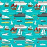 Sea transport pattern vector. Stock Image