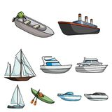 Sea transport related icon set Royalty Free Stock Images