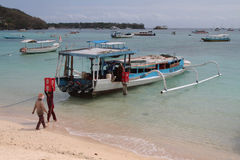 Sea transportation in Lembongan island Royalty Free Stock Images