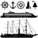 Sea transportation vector Stock Photography