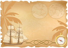 Sea travel background. Vector background with  sea travel elements (EPS 10 Royalty Free Stock Image