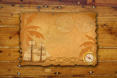 Sea travel background. Vintage  background with  sea travel elements Stock Photo