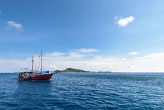 Sea travel by boat at Similan island, Thailand Royalty Free Stock Image
