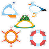 Sea travel gift tags Royalty Free Stock Photography