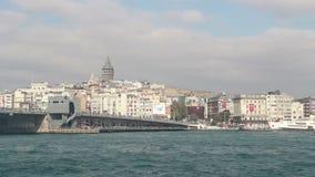 Sea, travel Istanbul city, December 2016, Turkey stock video footage